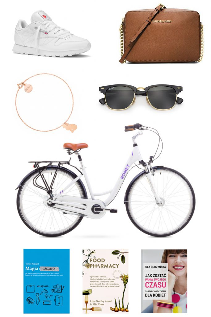 wishlista_romet_art_deco_7_reebok_classic_leather_white_ray_ban_michael_kors_jet_set_travel_crossbody_sotho_bransoletka_z_kotem_rose_gold_food_pharmacy_magia_olewania_pani_swojego_czasu